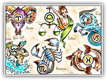 Zodiac Tattoo set1